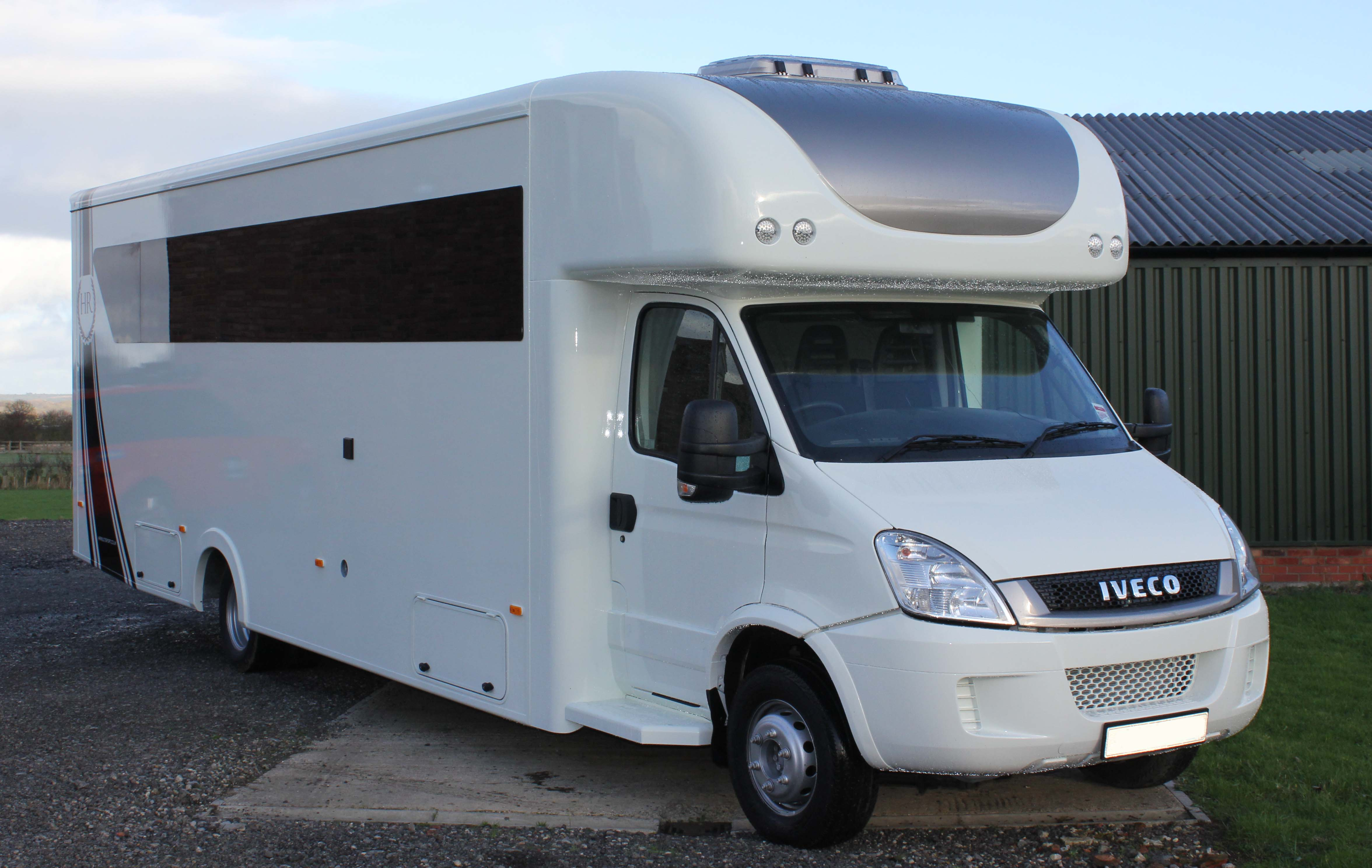 Stunning Motorhome Car Carrier 6 Berth 7 T Iveco Daily | Trailers & Transporters for sale at Raced & Rallied | rally cars for sale, race cars for sale