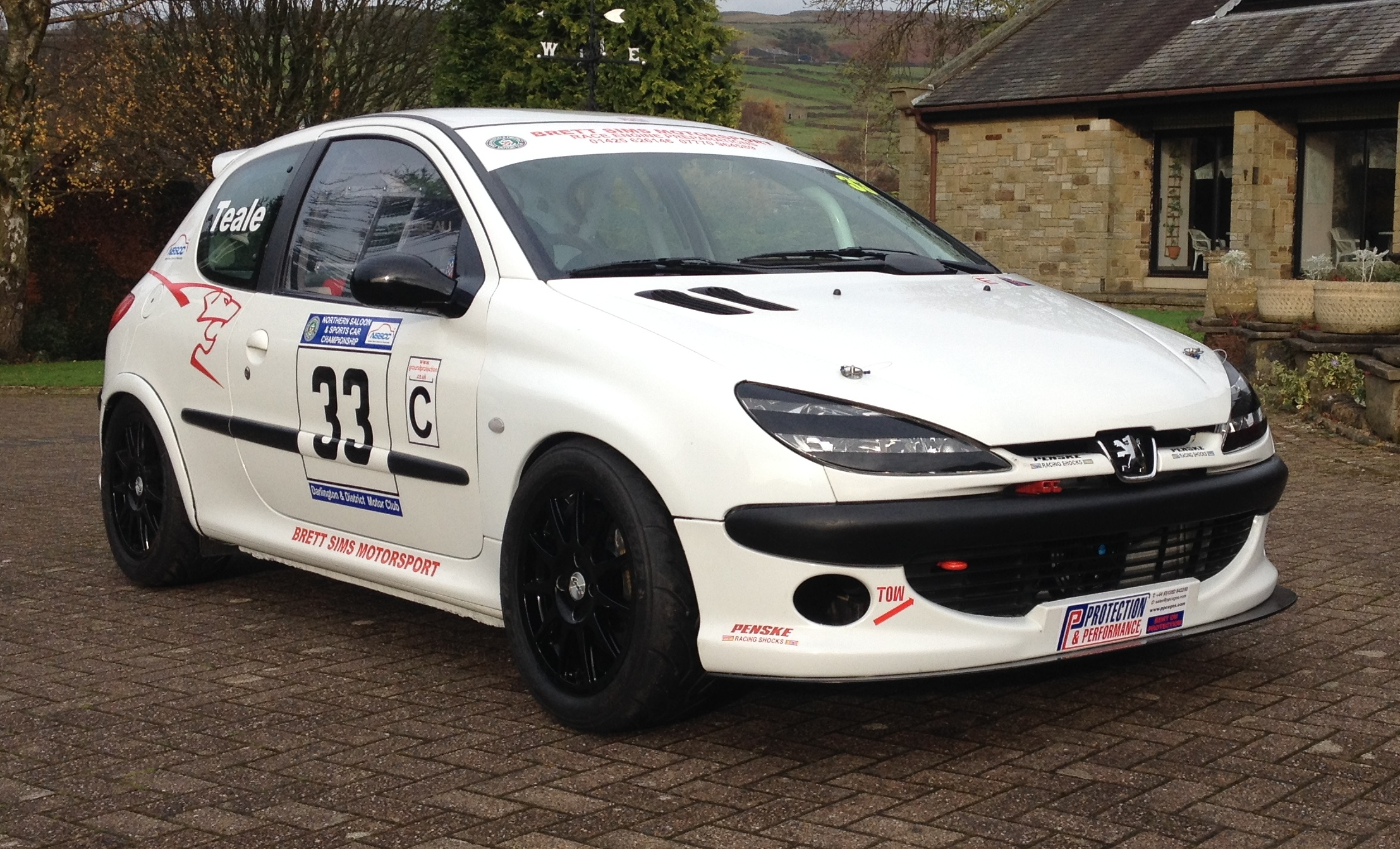 Race Cars For Sale At Raced Rallied: Peugeot 206 Race Car,Rally,Sprint/hillclimb, Track 274 BHP