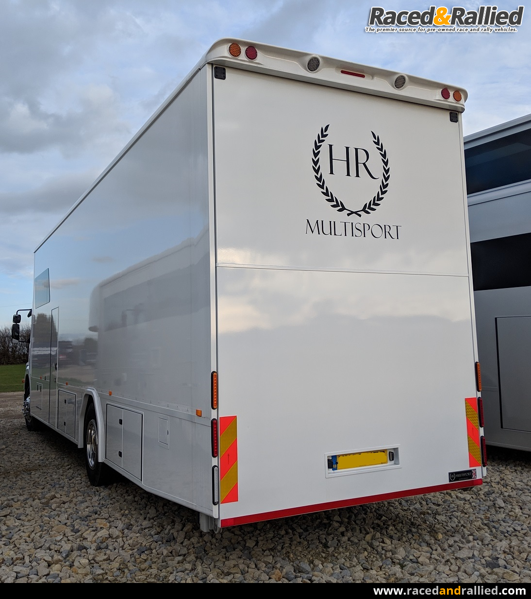 Mercedes race truck with Dhollandia Lift and slide out