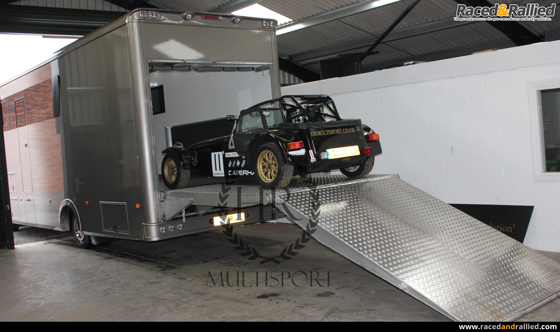 Car Ramps For Sale >> Stunning Tail Lift car race transporter Motorhome with ...
