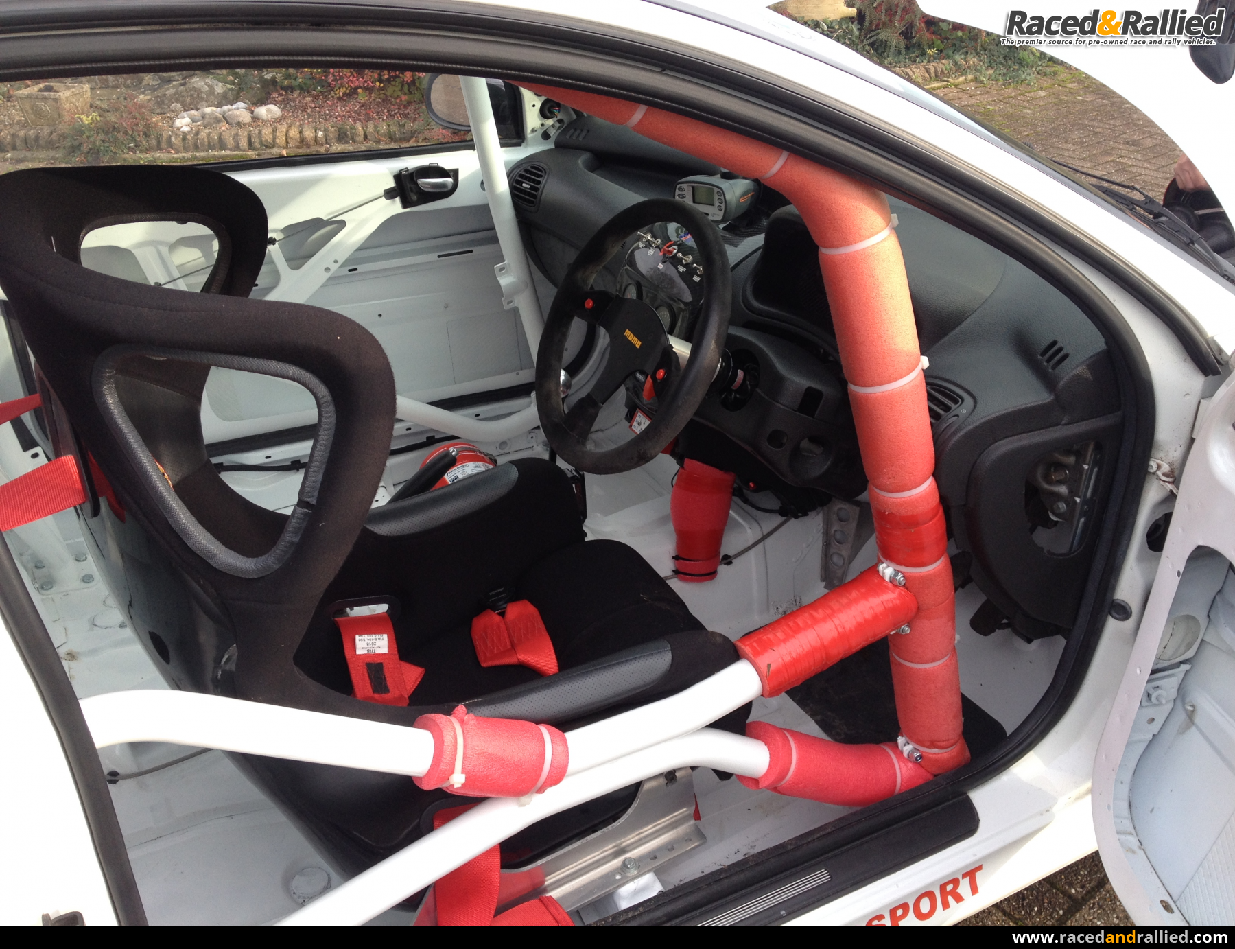 peugeot 206 race car rally sprint hillclimb track 274 bhp race cars for sale at raced. Black Bedroom Furniture Sets. Home Design Ideas