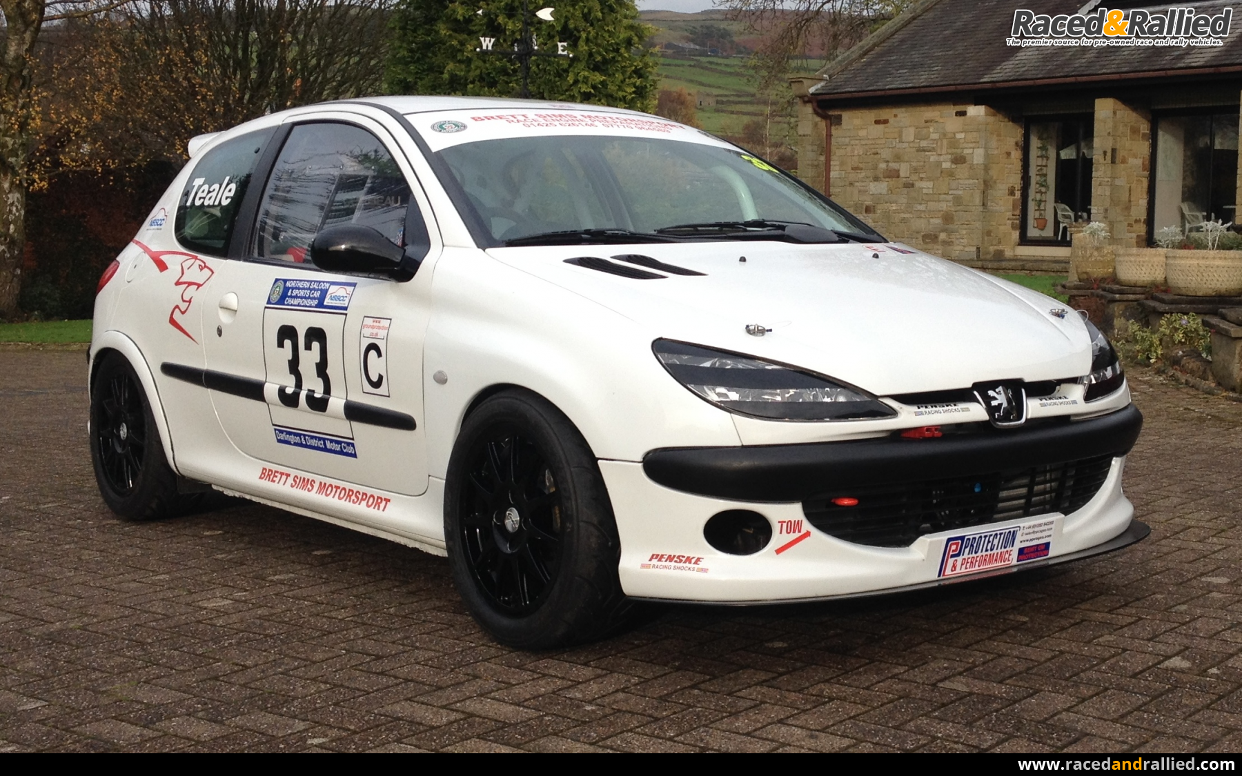 Peugeot 206 Race Car,Rally,Sprint/hillclimb, Track 274 BHP