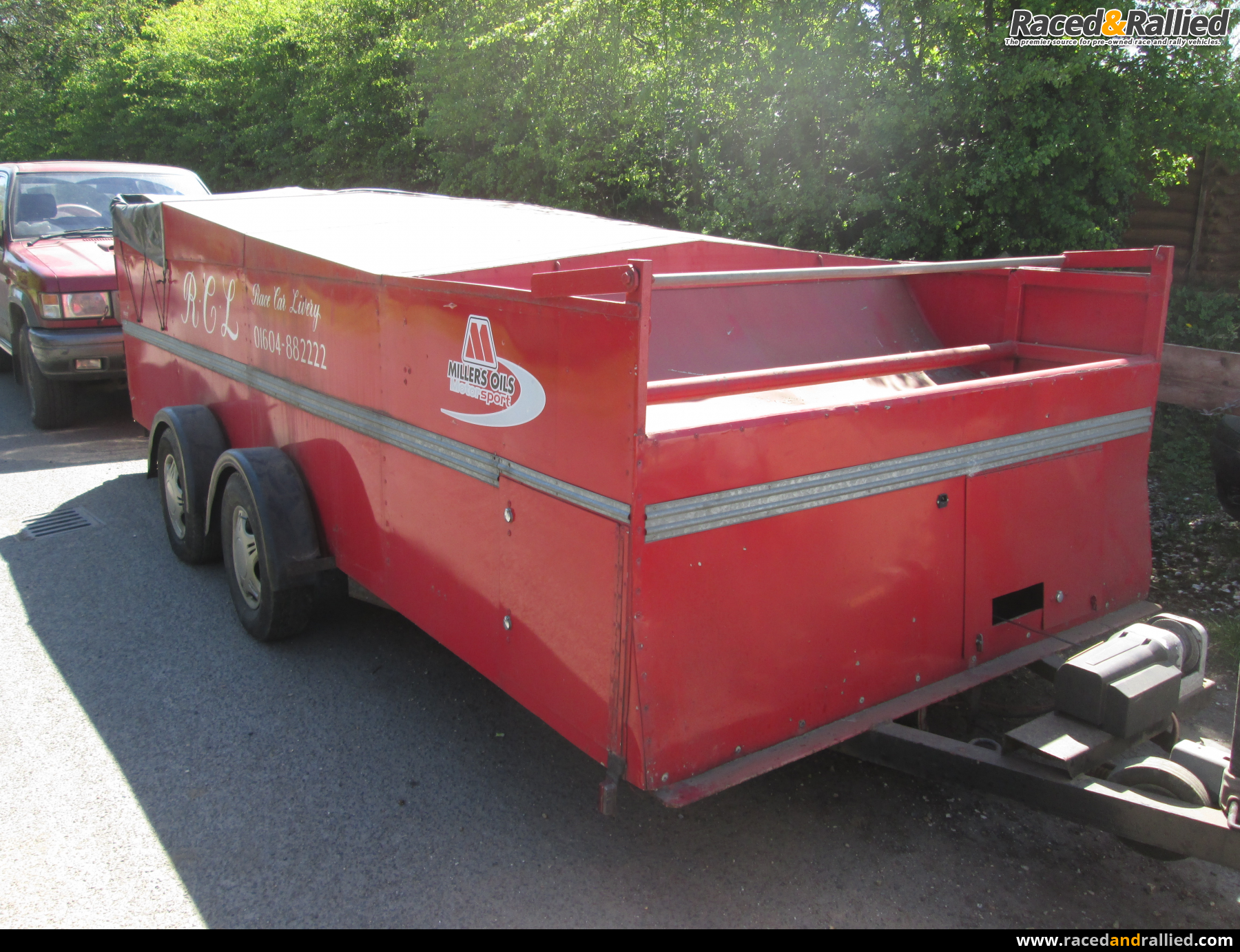 Trailer Bike Rack >> RACE CAR TRAILER | Trailers & Transporters for sale at Raced & Rallied | rally cars for sale ...