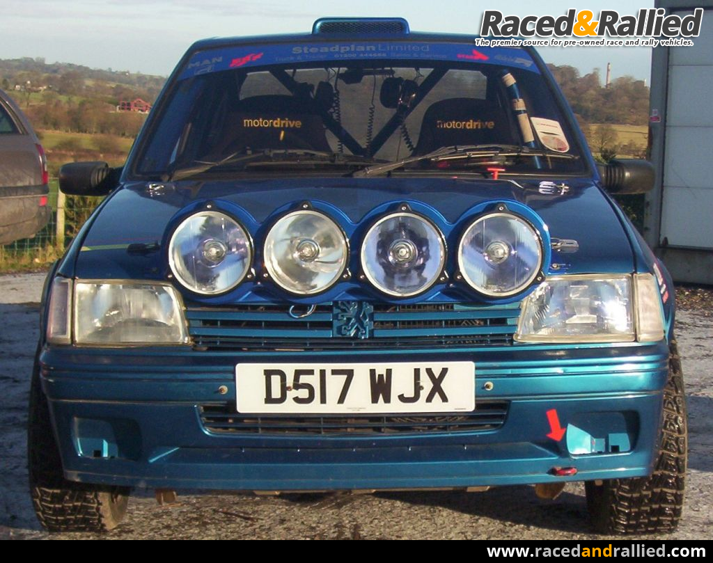 Peugeot 205 gti rally car rally cars for sale at raced for Housse 205 gti