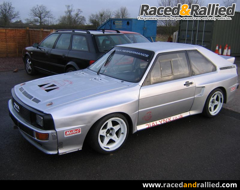audi quattro rally cars for sale at raced rallied rally cars for sale race cars for sale. Black Bedroom Furniture Sets. Home Design Ideas