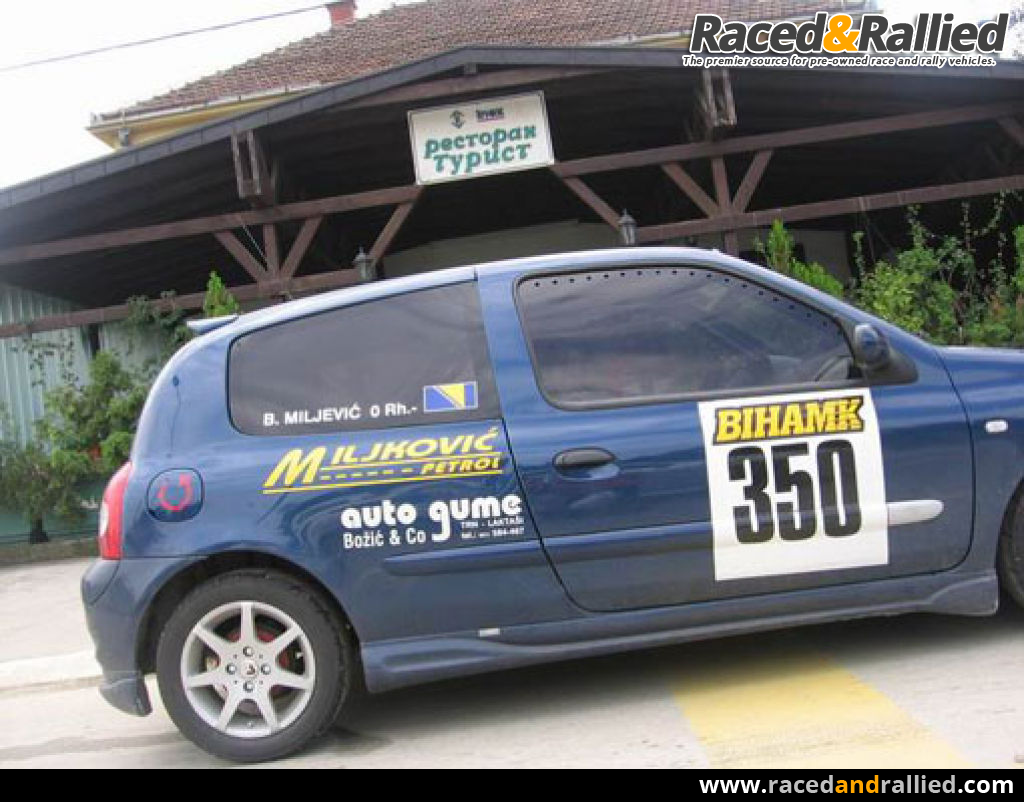 renault clio 16v race cars for sale at raced rallied rally cars for sale race cars. Black Bedroom Furniture Sets. Home Design Ideas