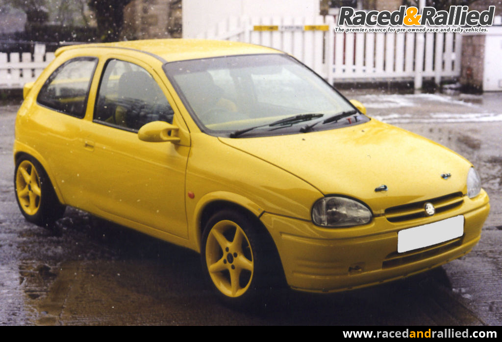 vauxhall corsa b 1 4 16v race cars for sale at raced rallied rally cars for sale race. Black Bedroom Furniture Sets. Home Design Ideas