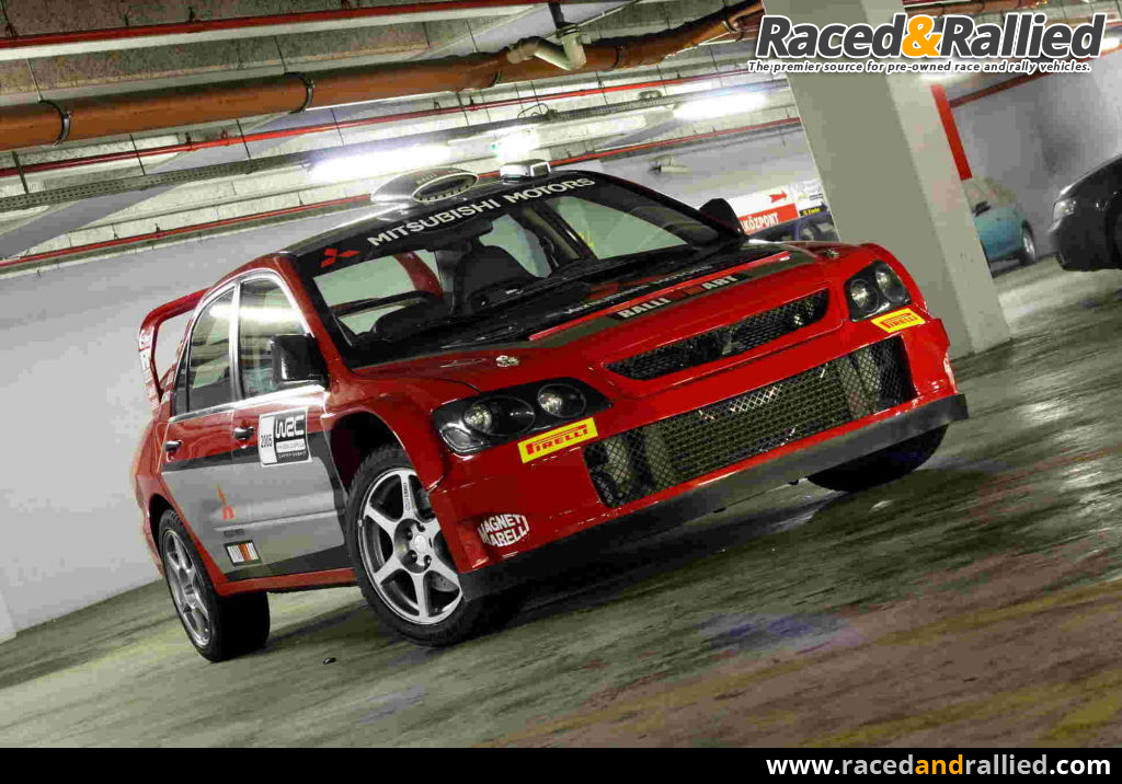 mitsubishi lancer evo viii wrc replica rally cars for sale at raced rallied rally cars. Black Bedroom Furniture Sets. Home Design Ideas