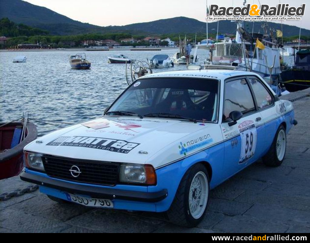 Race Cars For Sale At Raced Rallied: Opel Ascona B Gruppe 2 Historic Rally Car