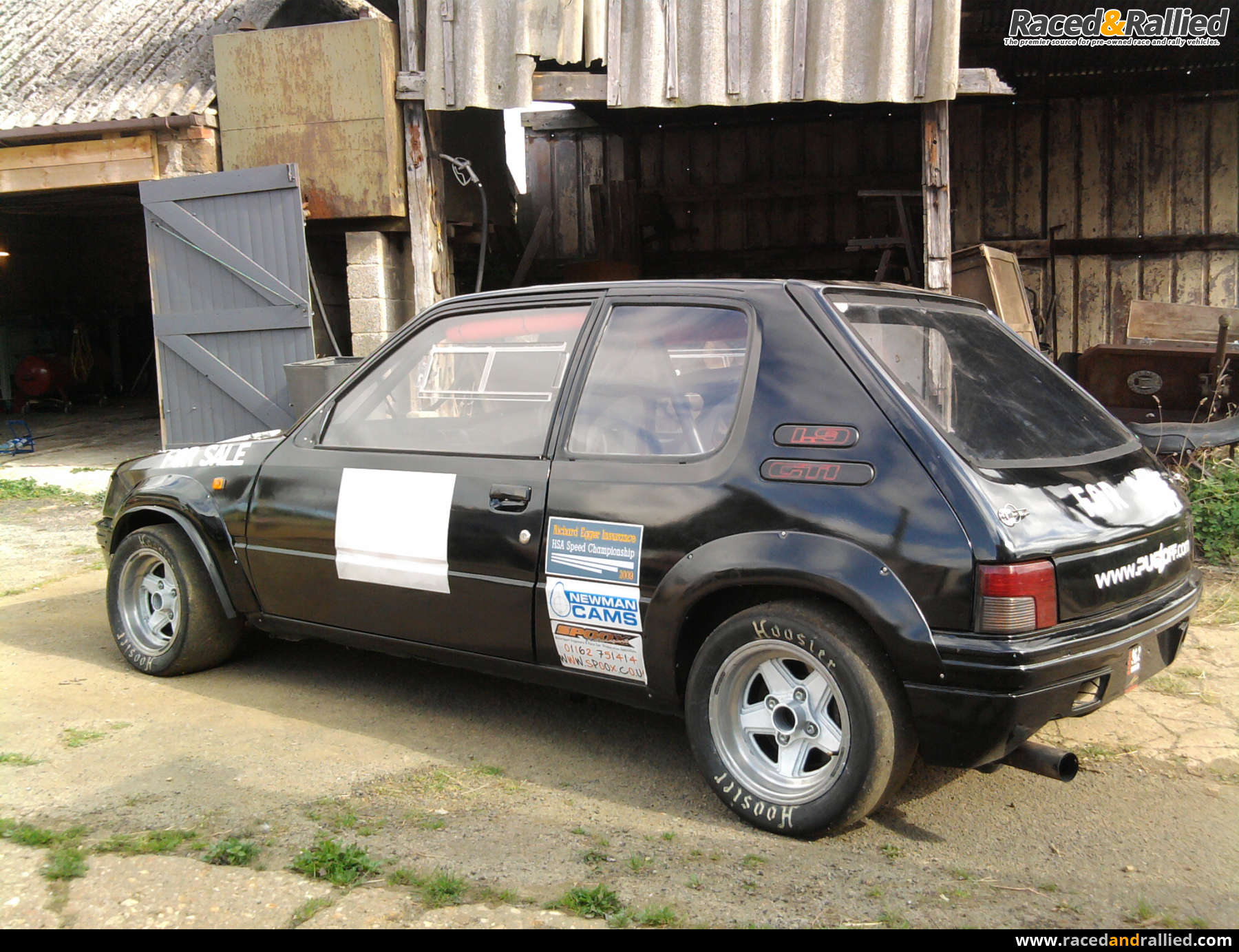 Race Cars For Sale At Raced Rallied: Peugeot 205 MI16 Hillcimb Trackcar 240bhp/700kgs