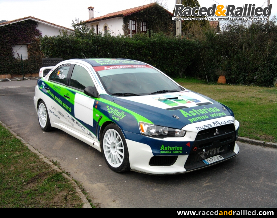 mitsubishi lancer evo x rally cars for sale at raced rallied rally cars for sale race. Black Bedroom Furniture Sets. Home Design Ideas