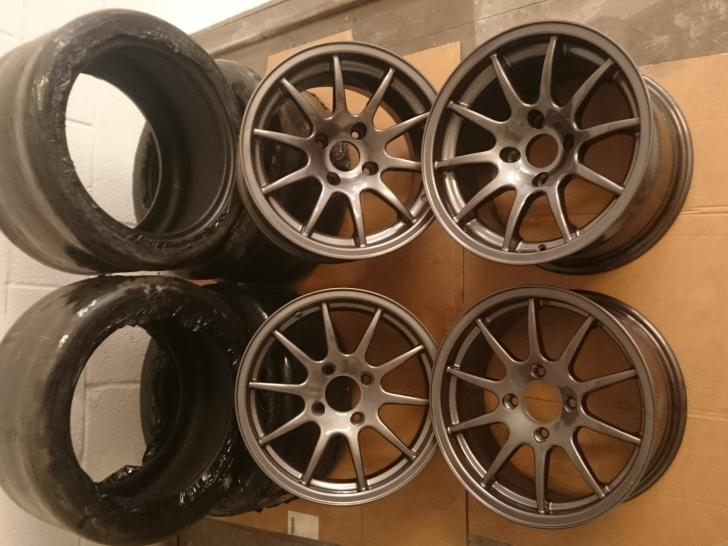 brand new caterham csr 15 wheels avon crossply slicks race car parts for sale at raced. Black Bedroom Furniture Sets. Home Design Ideas