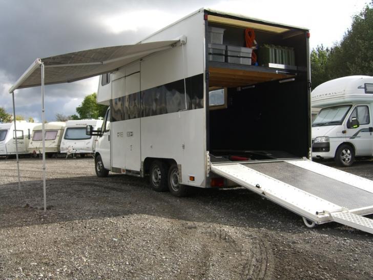 fiat ducato drop tail race transporter campervan race home trailers transporters for. Black Bedroom Furniture Sets. Home Design Ideas