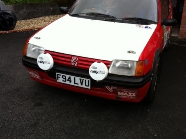 Peugeot 205 GTI MSA registered rallly car   Rally Cars for sale at ...